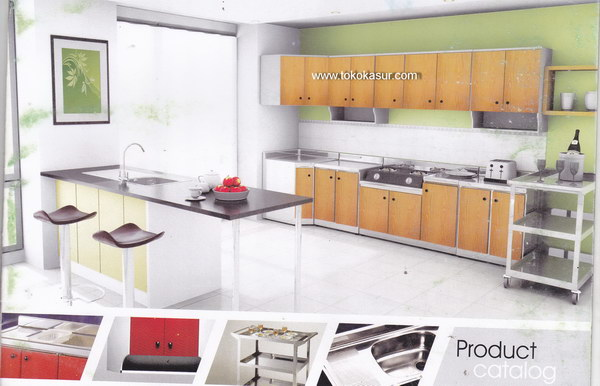 Kitchen set lemari dapur for Kitchen set hijau